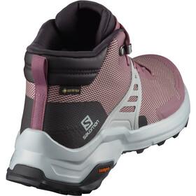 Salomon X Raise Mid GTX Zapatillas Mujer, rosa/blanco